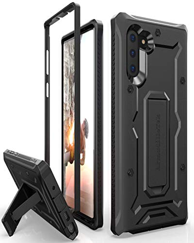 ArmadilloTek Vanguard Designed for Samsung Galaxy Note 10 / Note 10 5G  Case (2019 Release) Military Grade Full-Body Rugged with Kickstand Without Built-in Screen Protector - Black
