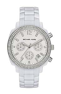 Michael Kors Wolcott White Chronograph Glitz Dial Watch