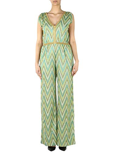 M Missoni Women's 2Do000042j000bl600f Green Cotton Jumpsuit (Missoni Designer)