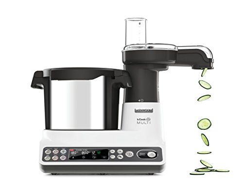 Kenwood CCL401WH kCook Multi Smart Robot da Cucina Food Processor con Funzione Cottura, 10 Accessori Inclusi, Acciaio… 2