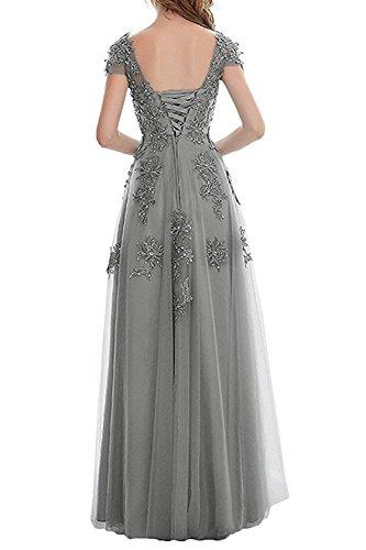 Lang Spitze Abschlussballkleider mit Brautmutterkleider Abendkleider Ballkleider Promkleider La mia Herrlich Orange Rot Braut w8nTxTSIPq