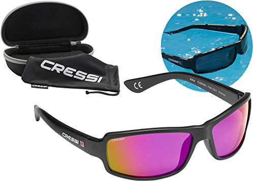 Cressi Ninja Floating TAC Polarized Wrap Around Sport Sunglasses Unsinkable, Violet