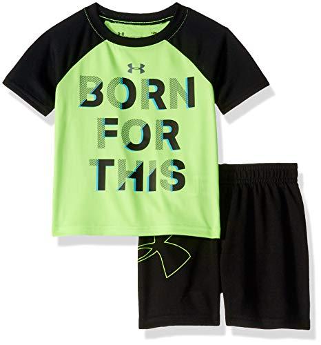 Under Armour Baby Boys Sleeve Bodysuit and Short Set, Limelight S19, 18M