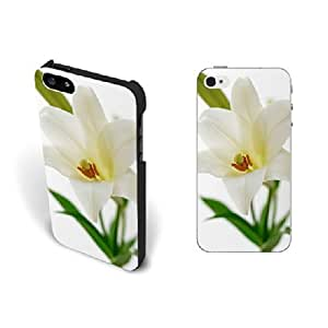 Aesthetics Pastel Floral Case For Samsung Note 4 Cover Pretty Flower Lily Fashion Design Hard Plastic Case For Samsung Note 4 Cover Case Screen Protector for Women