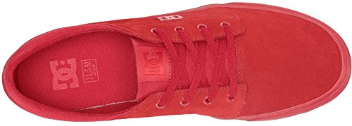 DC Trase Se Red Suede Mens Skate Trainers Shoes-11