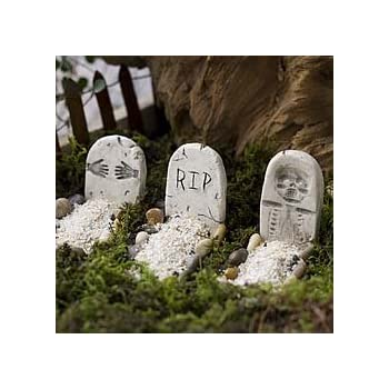mini tombstones halloween decoration miniature fairy garden planter village decoration accessories
