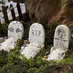Mini Tombstones Halloween Decoration - Miniature Fairy Garden Planter Village Decoration Accessories ()