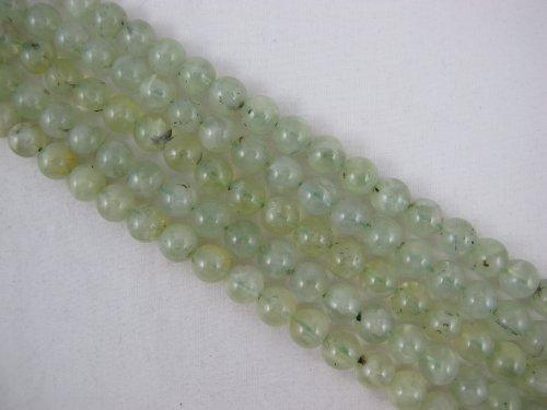 BRCbeads Prehnite Natural Gemstone Beads A Grade Smooth Round Shape Green Color 10mm 40pcs 16''per Strand