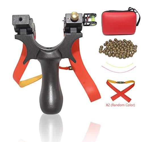 Blue-Ra Outdoor Y Shot Slingshot Hunting Sling Shot Professional High Velocity Catapult Kit Slingshots for Adult Kids (Black)