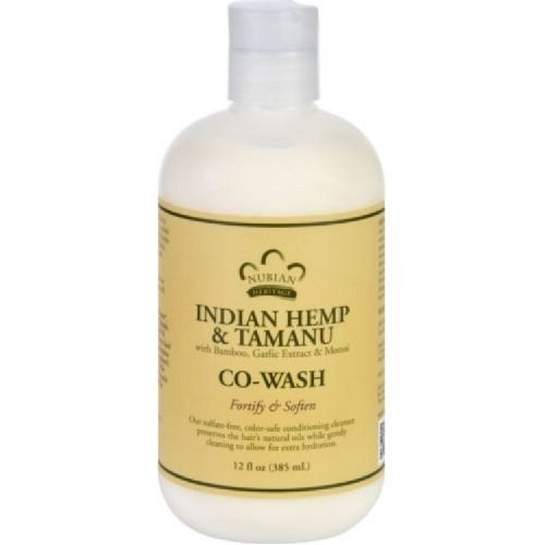 Indian Hemp & Tamanu CO-Wash Nubian Heritage 12 oz Liquid