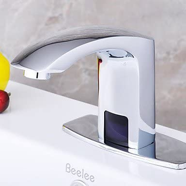 Cromo energía hidroeléctrica grifo de baño automatización sensor (fría)