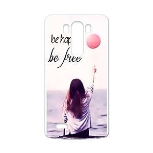Girl Be Free Be Happy Balloons Custom Case Cover for LG G3 (Laser Technology)
