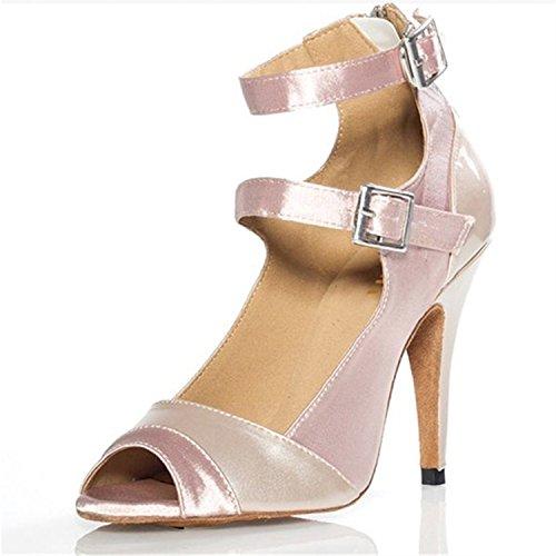 BYLE Baile Baile Zapatos Onecolor Sandalias de Zapatos de Verano Jazz Adultos de Zapatos de Tira de Modern Latino Baile Tobillo de Cuero Zapatos Samba Latino r4BH7r