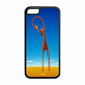 Lmf DIY phone caseiphone 5c Protective Case -Custom STYLE (994) Giraffe funny Snap On TPU Cell Phone Case Cover for iphone 5cLmf DIY phone case