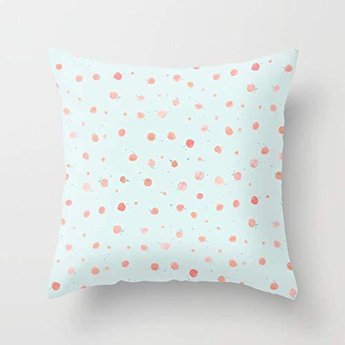 Nextchange Watercolour Georgia Peaches Dots Cotton Pillowcase (Two Sides) Pillow Cover Standar Size 16x16 in