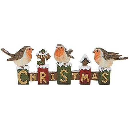 Christmas Robin Festive Ornament Decoration