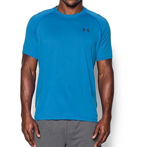 Under Armour Men's Tech Short Sleeve T-Shirt, Brilliant Blue/Stealth Gray, - Mens T-shirts Fashion