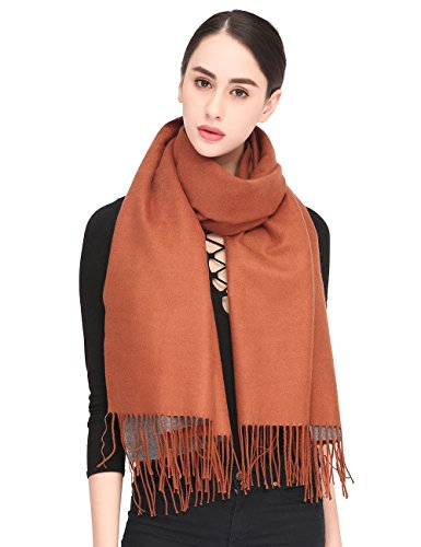 Women Soft Pashmina Scarf Stylish Warm Blanket Scarves Solid Winter Shawl by Arctic Penguin (Image #4)