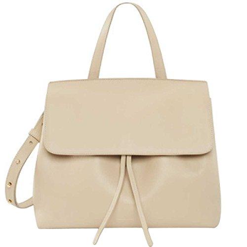 Frauen Einfaches Tasche Schultertasche Handtasche Leder Leder,White-OneSize