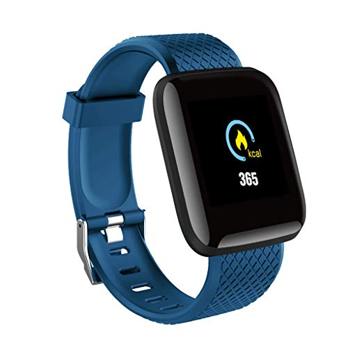 Hongxin-New 2019 Smart Bracelet Heart Rate Smart Reminder Fashion Athlete Fitness Tracker Waterproof Smart Bracelet with Heart Rate Monitor Activity Health Tracker Fitness Wristband Pedometer(Blue) (Best Health Wristbands 2019)