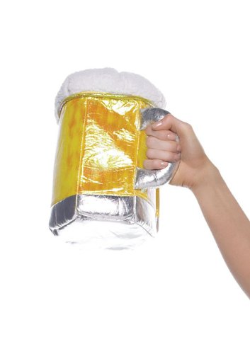 Leg Avenue Beer Stein Purse Costume Accessory, Gold, One Size