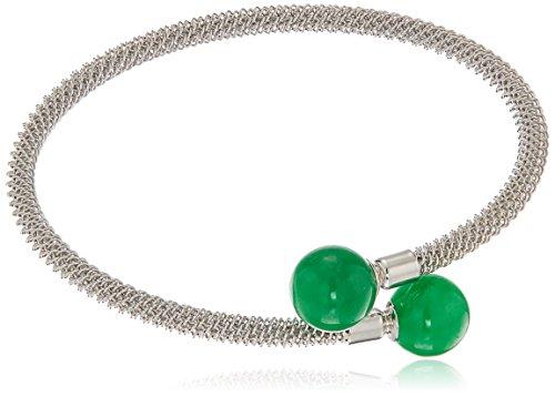 Sterling Silver Jade Jewelry Wrap Bracelet
