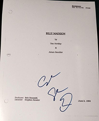 "Adam Sandler Signed Autograph Rare ""billy Madison"" Full Movie Script W"