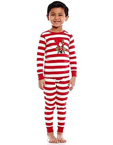 Leveret Santa 2 Piece Pajama 100% Cotton (18-24 Months, Red/White)