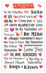 Valentine Love Card Captions Scrapbook Stickers 260088