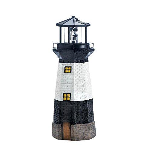 Summerfield 1 Light (Solar Lights Outdoor Statues, Spinning Lighthouse Led Powered Solar Figurines)