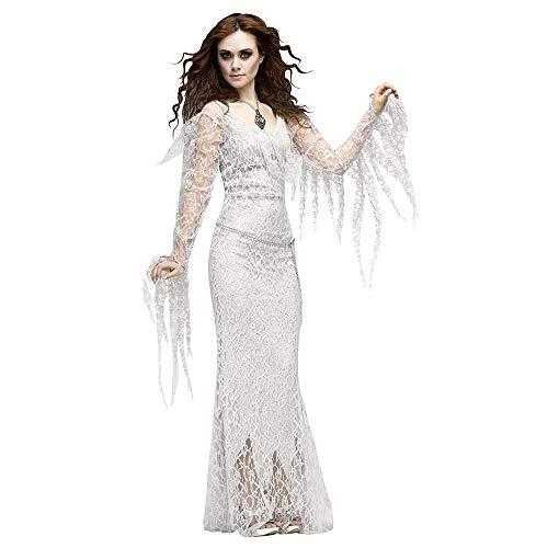LVLUOYE Halloween White Tree Demon Plays Uniform, Prom Party Vampire Ghost Bride Cosplay Costume,S
