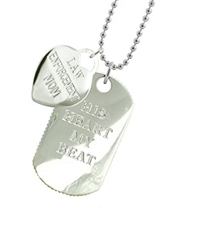 Solid Sterling Silver Police Mom Dog Tag DT by New York 925 & Co.