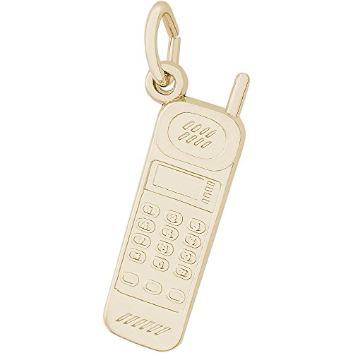 Rembrandt Charms 14K Yellow Gold Cordless Phone Charm (23.5 x 7 mm) by Rembrandt Charms