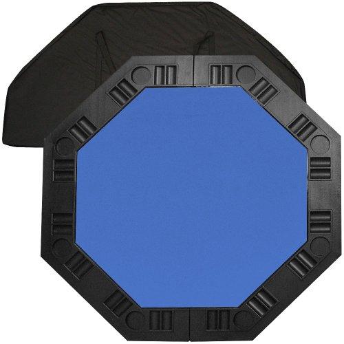 Trademark Poker 48-Inch 8-Player Octagonal Poker Tabletop (Blue) by Trademark Global