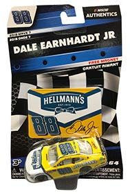 NASCAR Authentics Dale Earnhardt Jr. #88 Diecast Car 1/64 Scale - 2018 Wave 7 with Free Magnet - Collectible