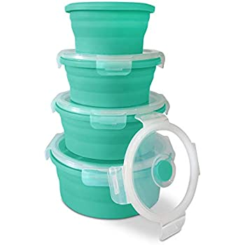 Amazon.com: Silicone Collapsible Food Storage Container
