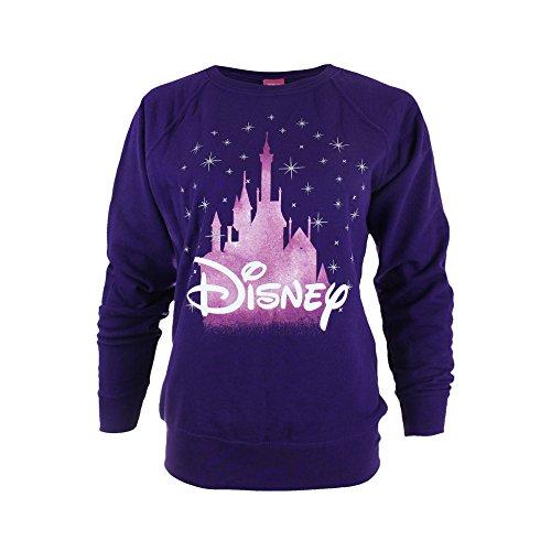 Disney Castle, Sweat-Shirt Femme Purple (Purple Pur)