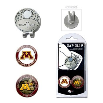 Team Golf NCAA Minnesota Golden Gophers Golf Cap Clip with 2 Removable Double-Sided Enamel Magnetic Ball Markers, Attaches Easily to Hats