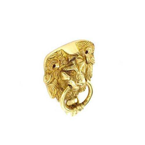 Securit S2272 Lion Head Knocker face fix 100mm, Gold