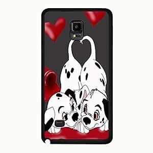 Fantasy 101 Dalmatians Phone Case For Samsung Galaxy Note 4 101 Dalmatians Love Pattern