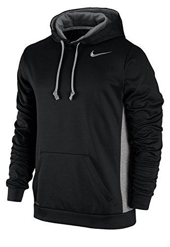 Men's Nike KO Hoodie 3.0 Black/Dark Grey Heather/Cool Grey Size XX-Large