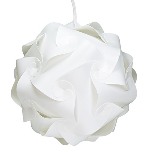 """WYZworks Puzzle Lamp WHITE (Small 10"""") Modern Light Shade Lantern with 12' Power Cord hot sale"""