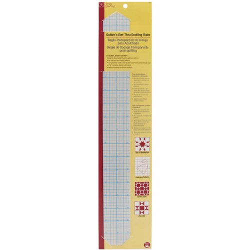 - Dritz 3300 Quilter's See-Thru Drafting Ruler, 2 x 18-Inch