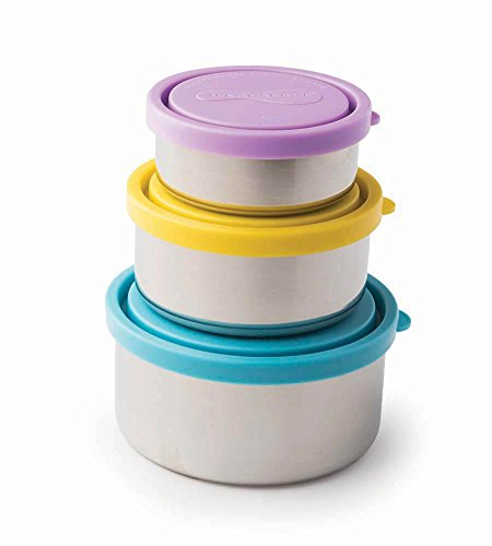 U Konserve - Nesting Trio, Perfect for Lunches or Picnics, Reduce Waste, Dishwasher Safe (Round, Sky) by Kids Konserve
