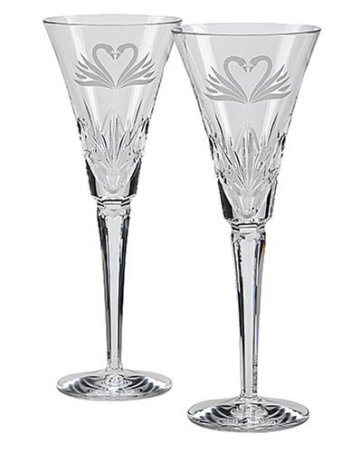 Waterford Wedding Heirloom Toasting Flutes, Set of 2