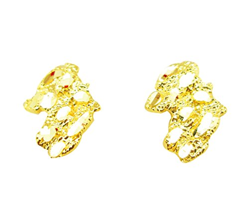 Mens 10k Yellow Gold Nugget Earrings (Yellow Gold Ring Nugget)