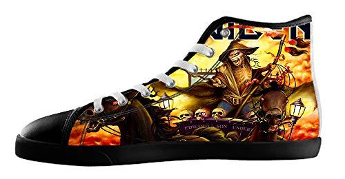Kjlj-hommes Groupe De Rock Hommes Haut Style Chaussures En Toile Pour Les Black4