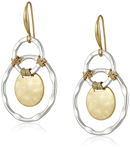 (Robert Lee Morris Wire Wrapped Orbital Circle Drop Earrings)