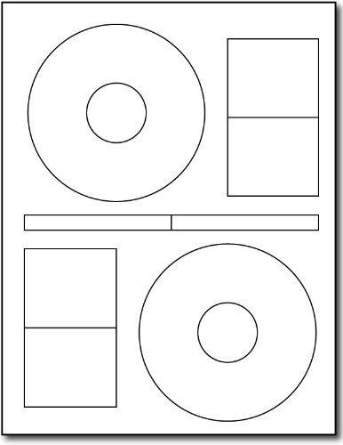 2up StomperStyle CD Labels - 100 Sheets / 200 Labels