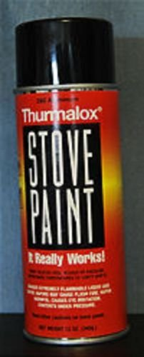 Elevada temperatura chimenea al barbacoa estufa pintura (plana)